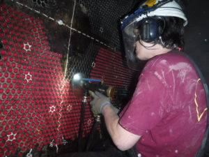condenser tube cleaning by AES